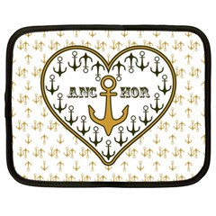 Anchor Heart Netbook Case (xxl)