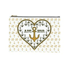 Anchor Heart Cosmetic Bag (large)