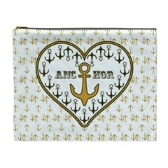 Anchor Heart Cosmetic Bag (XL)
