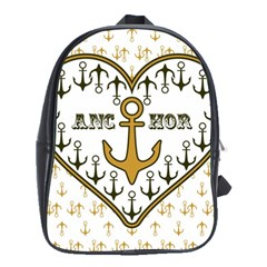 Anchor Heart School Bags(Large)