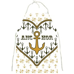 Anchor Heart Full Print Aprons