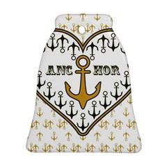 Anchor Heart Ornament (Bell)