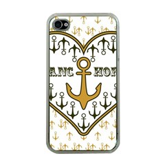 Anchor Heart Apple Iphone 4 Case (clear)