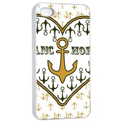 Anchor Heart Apple Iphone 4/4s Seamless Case (white)