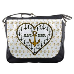Anchor Heart Messenger Bags