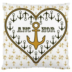 Anchor Heart Large Cushion Case (One Side)