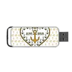 Anchor Heart Portable Usb Flash (one Side)