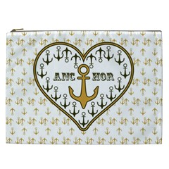 Anchor Heart Cosmetic Bag (XXL)