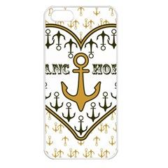 Anchor Heart Apple iPhone 5 Seamless Case (White)