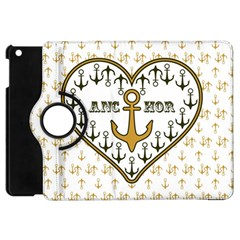 Anchor Heart Apple iPad Mini Flip 360 Case