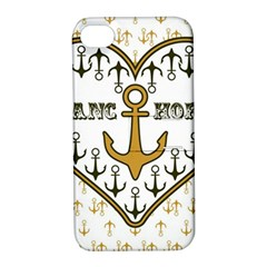 Anchor Heart Apple Iphone 4/4s Hardshell Case With Stand