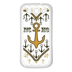 Anchor Heart Samsung Galaxy S3 Back Case (White)