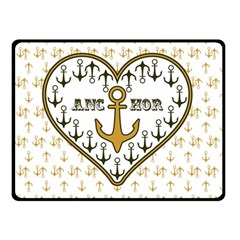 Anchor Heart Double Sided Fleece Blanket (Small)