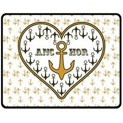 Anchor Heart Double Sided Fleece Blanket (medium)