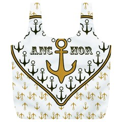 Anchor Heart Full Print Recycle Bags (l)