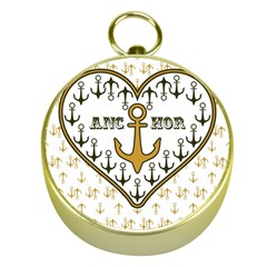 Anchor Heart Gold Compasses