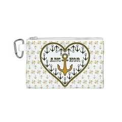 Anchor Heart Canvas Cosmetic Bag (S)