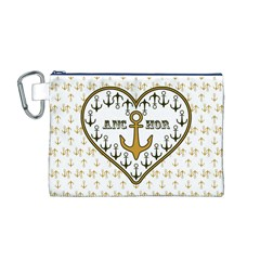 Anchor Heart Canvas Cosmetic Bag (M)