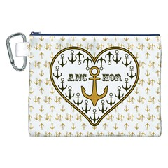 Anchor Heart Canvas Cosmetic Bag (xxl)