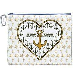 Anchor Heart Canvas Cosmetic Bag (xxxl)
