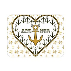 Anchor Heart Double Sided Flano Blanket (Mini)