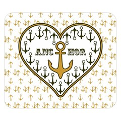 Anchor Heart Double Sided Flano Blanket (Small)