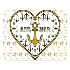 Anchor Heart Double Sided Flano Blanket (large)