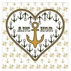Anchor Heart Large Satin Scarf (Square)