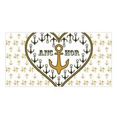 Anchor Heart Satin Shawl