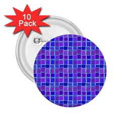 Background Mosaic Purple Blue 2.25  Buttons (10 pack)