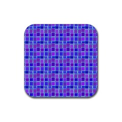 Background Mosaic Purple Blue Rubber Square Coaster (4 Pack)