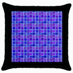 Background Mosaic Purple Blue Throw Pillow Case (Black)