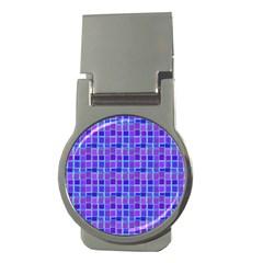 Background Mosaic Purple Blue Money Clips (round)