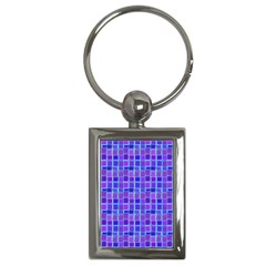 Background Mosaic Purple Blue Key Chains (Rectangle)