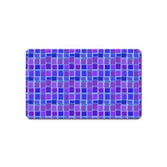 Background Mosaic Purple Blue Magnet (Name Card)
