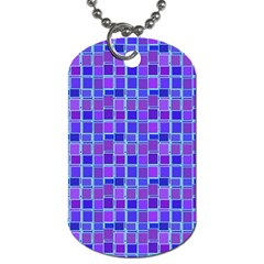Background Mosaic Purple Blue Dog Tag (one Side)