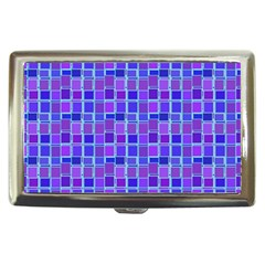 Background Mosaic Purple Blue Cigarette Money Cases