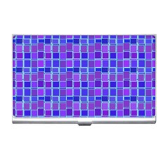 Background Mosaic Purple Blue Business Card Holders