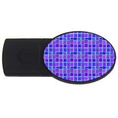 Background Mosaic Purple Blue USB Flash Drive Oval (2 GB)