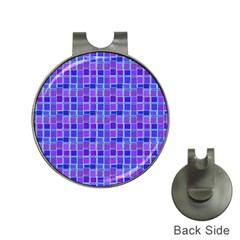 Background Mosaic Purple Blue Hat Clips with Golf Markers