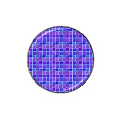 Background Mosaic Purple Blue Hat Clip Ball Marker (10 pack)