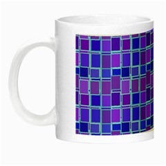 Background Mosaic Purple Blue Night Luminous Mugs