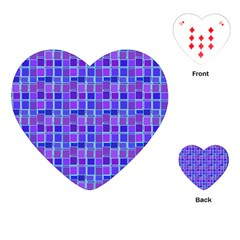 Background Mosaic Purple Blue Playing Cards (Heart)