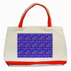 Background Mosaic Purple Blue Classic Tote Bag (red)