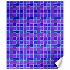 Background Mosaic Purple Blue Canvas 8  x 10