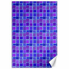 Background Mosaic Purple Blue Canvas 12  x 18