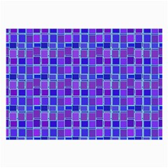 Background Mosaic Purple Blue Large Glasses Cloth