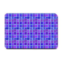 Background Mosaic Purple Blue Small Doormat