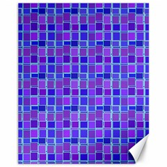 Background Mosaic Purple Blue Canvas 11  X 14