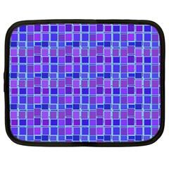 Background Mosaic Purple Blue Netbook Case (Large)